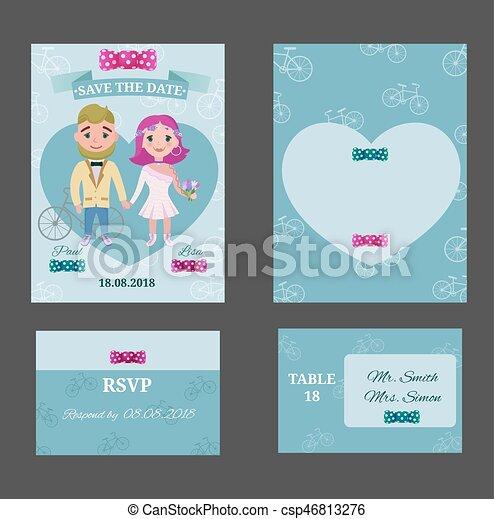 Colorful wedding invitations postcards set colorful wedding colorful wedding invitations postcards set csp46813276 stopboris Choice Image