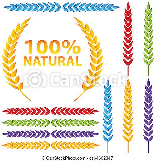Colorful Wheat Icon Set - csp4602347