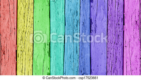 Colorful Wooden Background - csp17523661