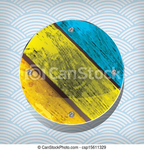 colorful wooden circular plate on t - csp15611329