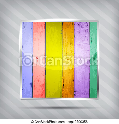 colorful wooden pattern icon - csp13700356