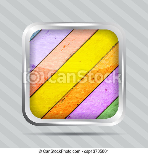 colorful wooden pattern icon - csp13705801