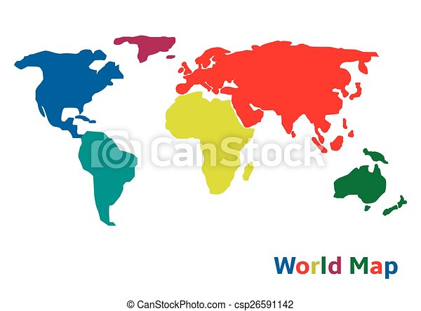 Vector illustration of colorful world map eps 10 format gumiabroncs Gallery