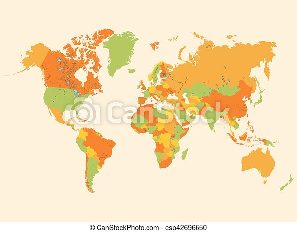 Colorful world map illustration clipart vector search illustration colorful world map illustration gumiabroncs Gallery