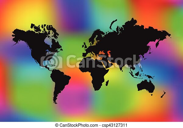 Colorful world map illustration world map illustration on a colorful world map illustration gumiabroncs Gallery