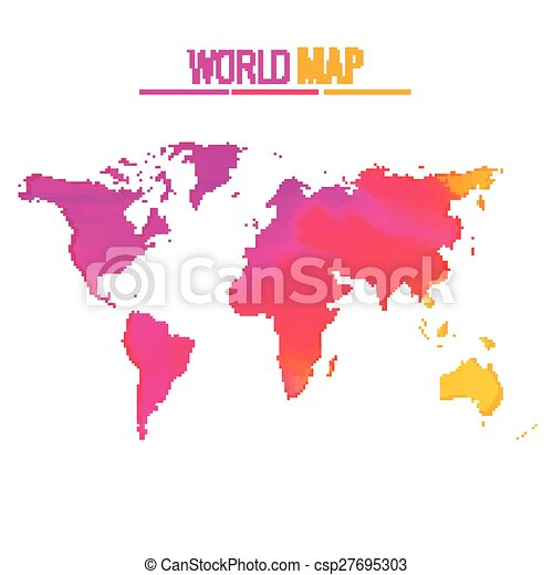 Colorful world map vector design illustration vector clipart colorful world map vector design gumiabroncs Gallery