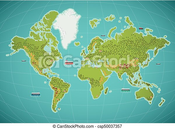 Colorful world map vector illustration colorful world map vector illustration gumiabroncs Gallery