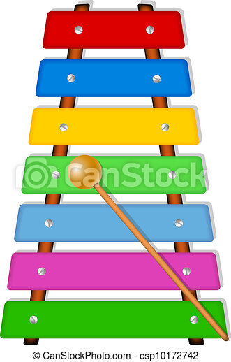 colorful xylophone musical instrument isolated on white eps rh canstockphoto com xylophone clipart xylophone clipart free