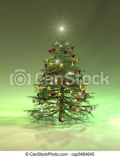Árbol de Navidad colorido - csp0484645