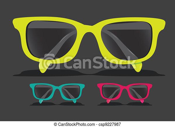 colorido, óculos - csp9227987