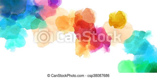 Colorida y manchada pintura de color acuarela - csp38087686