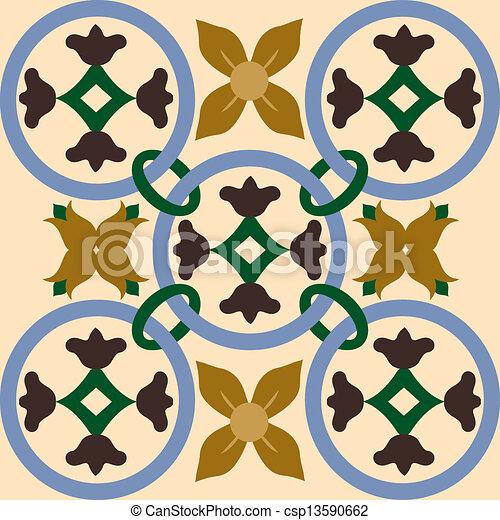 Azulejos de ornamento sin color - csp13590662