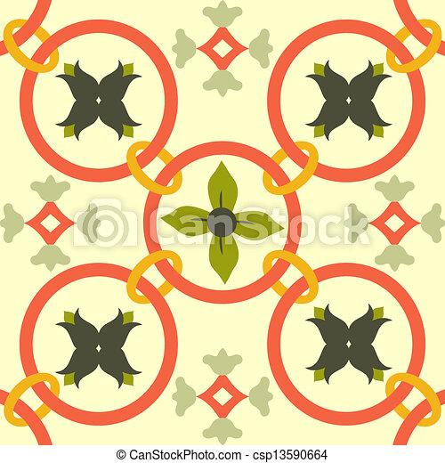 Azulejos de ornamento sin color - csp13590664
