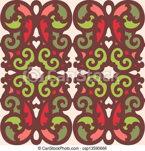 Azulejos de ornamento sin color - csp13590666