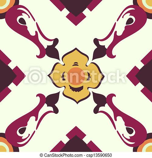 Azulejos de ornamento sin color - csp13590650