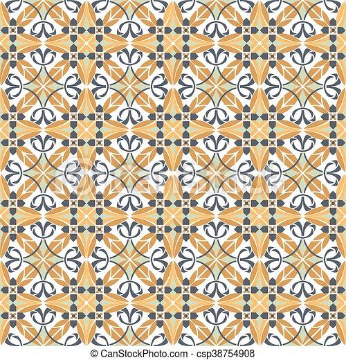 Azulejos de ornamento sin color - csp38754908