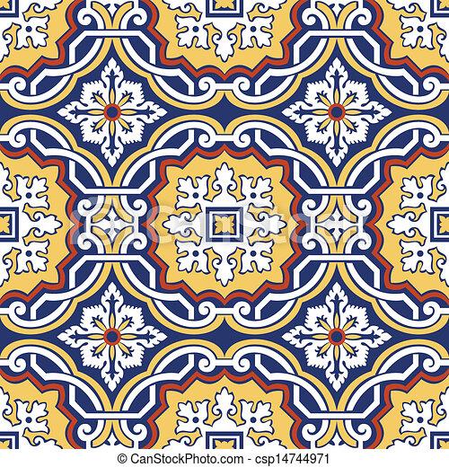 Tejas de adorno sin manchas - csp14744971