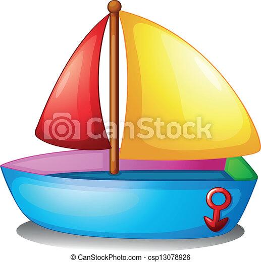 colorido, barco - csp13078926