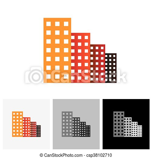 Residencial, edificios, torre, comercial, apartamentos Ilustración ...