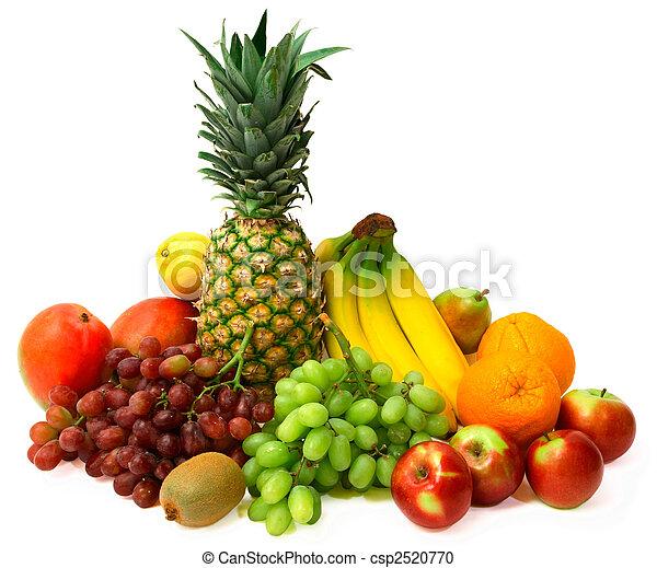 Frutas coloridas - csp2520770