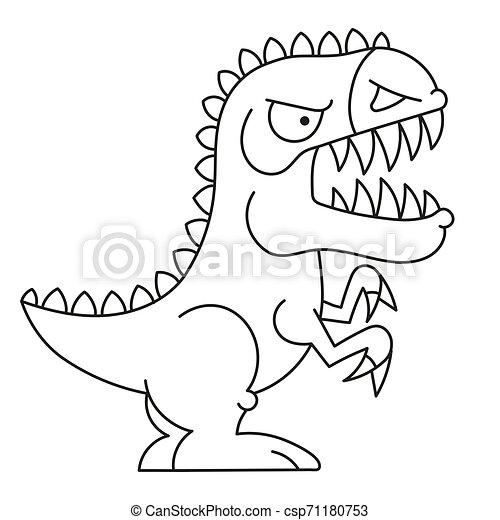Ilustracion De Dibujos Animados De Dinosaurios Para Colorear Libros Diseno De Impresos De Camiseta Ilustracion De Dibujos Canstock Elija entre los recursos de imágenes gráficas hd dinosaurio hd png y descárguelos en forma de png, svg o psd. dibujos animados de dinosaurios