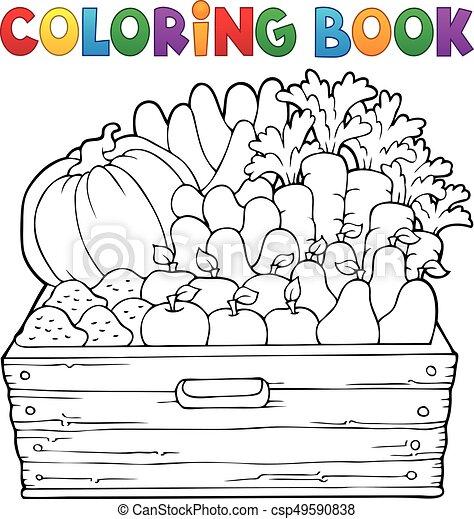 Productos de cultivo de libros de color 1 - csp49590838