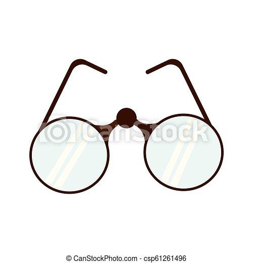 colorido, isolado, óculos - csp61261496