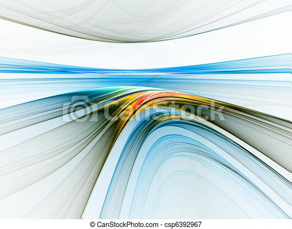 Horizonte lineal colorido - csp6392967