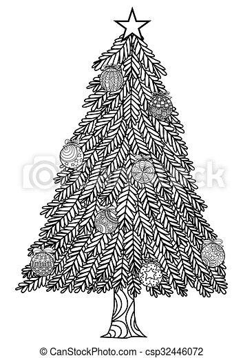 Página de coloración navideña - csp32446072