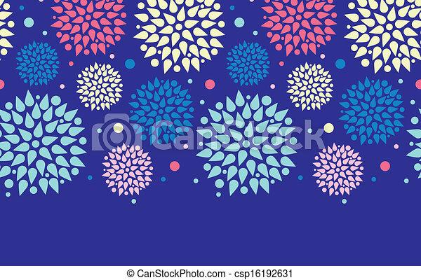 Explosiones de colores horizontales en la frontera de fondo - csp16192631