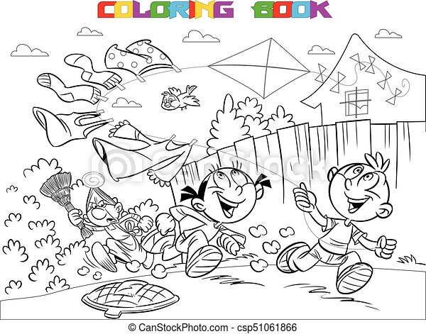 Libros de bromas infantiles colorear - csp51061866