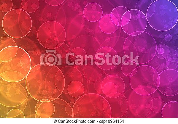 colorido, resumen, efecto, bokeh, plano de fondo, digital - csp10964154