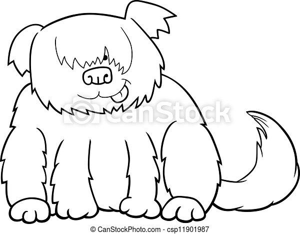 Ilustración de dibujos animados para colorear - csp11901987