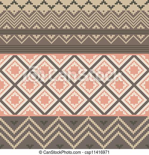 colorido, textura, étnico - csp11416971