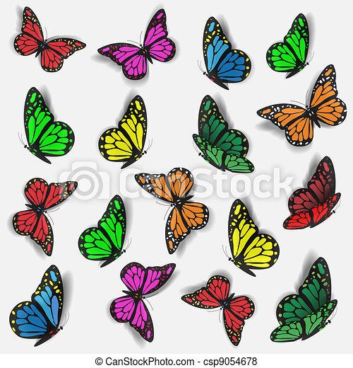 coloridos, borboletas - csp9054678