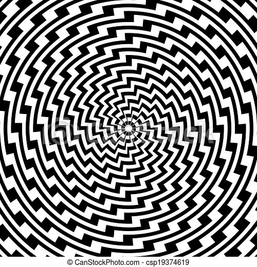 coloridos, desenho espiral, fundo, movimento, ilusão, circular - csp19374619