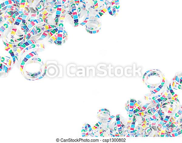 coloridos, fita, celebração - csp1300802