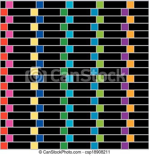 coloridos, fundo, ilusão - csp18908211