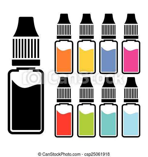 coloridos, líquido, conjuntos - csp25061918