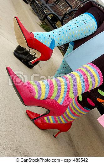 coloridos, meias - csp1483542