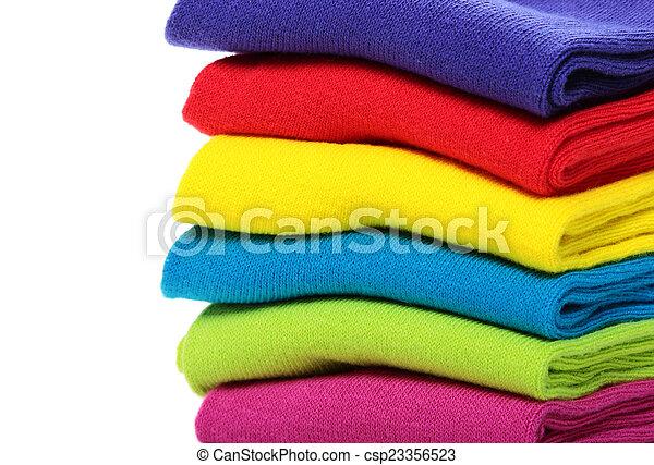 coloridos, meias - csp23356523