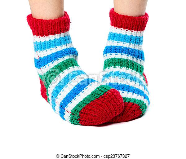 coloridos, meias - csp23767327