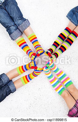 coloridos, meias - csp11899815