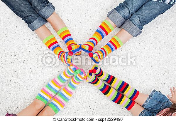 coloridos, meias - csp12229490