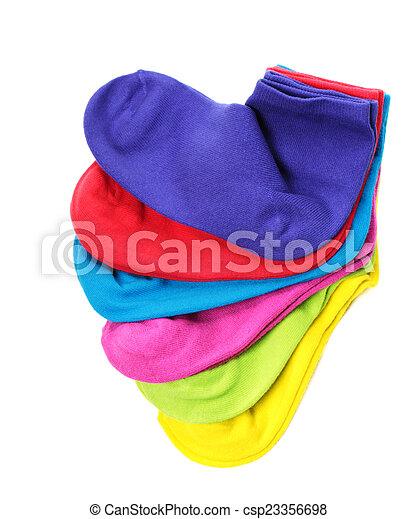 coloridos, meias - csp23356698