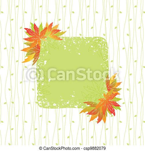 coloridos, padrão, folhas, seamless, outono, fundo - csp9882079