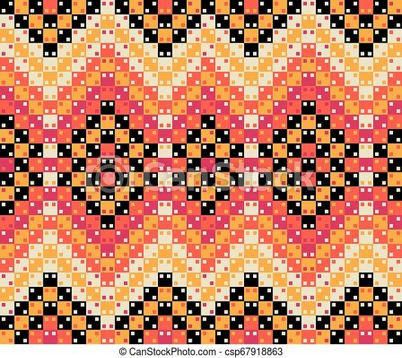coloridos, padrão, pattern., seamless, superfície, vetorial, óptico, geomã©´ricas, ilusão, design. - csp67918863
