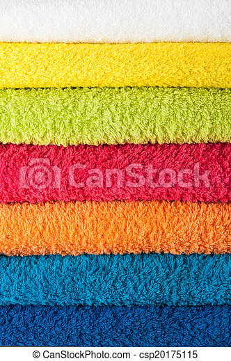 coloridos, pilha, toalhas - csp20175115