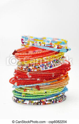 coloridos, pulseiras, moda, muitos - csp6082204