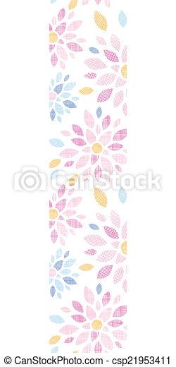 coloridos, vertical, padrão, abstratos, seamless, têxtil, fundo, flores, borda - csp21953411